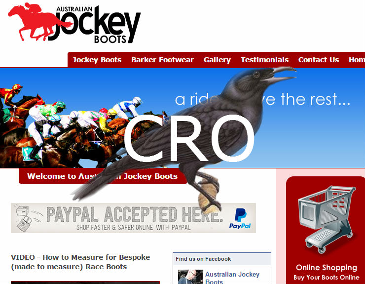 CRO Review: A Website Review of JockeyBoots.com.au
